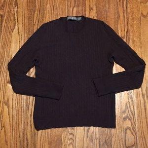 Vintage Mark Shale Cableknit Cashmere Sweater L